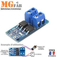 Module PWM mos fet D4184 15A 5 à 36V 400W | Field-effect motor DC LED Arduino
