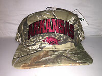 Vtg Arkansas Razorbacks Snapback hat cap rare 90s NCAA College Football camo new