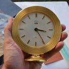 Vintage LeCoultre Automatic Alarm 240 Shelf Mantel Clock Box Swiss 8 Days Jewels