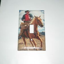 COWBOY on Horeseback Horse Back Light Switch Cover Plate