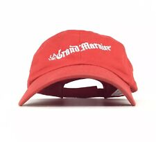 La Vie Grand Marnier 1827 Embroidered Red Baseball Cap Hat Adj Adult Size Cotton