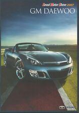 GM Daewoo car range (made in Korea) _2007 Prospekt / Brochure