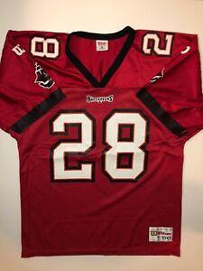 Vintage Tampa Bay Buccaneers Warrick Dunn #28 Jersey Mens XL Red Wilson NFL