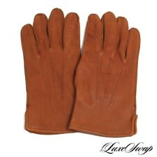 Anonymous Vintage Genuine Native Deerskin Leather Unlined Soft Tan Gloves L 9 NR
