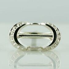 Semi Mount Oval Shape Ring 10x14 MM Rose Cut Setting 925 Silver Festival Jewelry