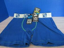 "LIFESTYLE UNDERWEAR~Blue ""Show Your Game"" Breathable BOXER BRIEFS~NWT~Small"