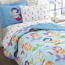 Olive Kids Full Size Bedding Set 7 Piece Bed in a Bag Mermaids Design