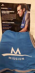"MISSION 3 IN ORDER Original Cooling Towels Blue 12"" x 32"" NWOB"