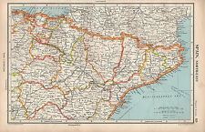 1952 MAP ~ SPAIN NORTH-EAST ~ TERUEL LOGRONO NAVARRA HUESCA LERIDA etc