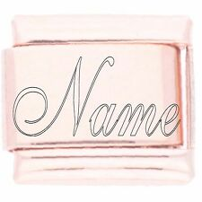 ROSE GOLD PLATED - Personalised Custom Made NAME engraved La Cima Italian Charm