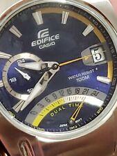 💯Casio Edifice Men's 100m. Stainless Steel Watch EF-319D-2AVDF BLUE Dial💥👌