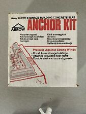 Arrow Shed Ak100 Concrete Anchor Kit - unopened