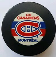 MONTREAL CANADIENS NHL VINTAGE INGLASCO NHL HOCKEY PUCK MADE IN CZECHOSLOVAKIA