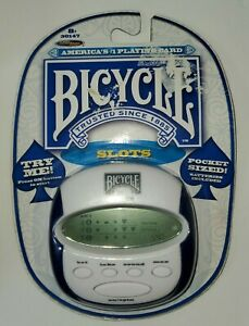 BICYCLE Slots Machine Electonic Pocket Size New Sealed Package #30147 Works!!