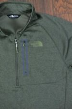 The North Face Canyonlands 1/2 Zip Pullover Green Heather Men's Large L