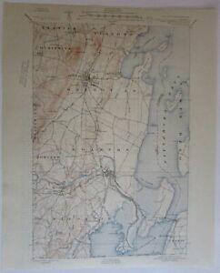 St Albans Quadrangle VT Lake Champlain 1948 uncommon vintage U.S. topo chart