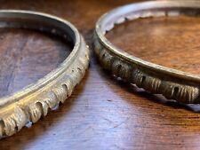 Vases Gilt Metal Ormolu style Pair Antique Rim Ring Fittings for