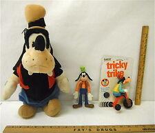 Walt Disney Goofy Tricky Trike + Action Figure + Little Bopper Talking Toy