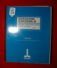 Okuma CNC Systems Special Functions Manual (No. 1): KPO-0060-01 (Inv.12465)