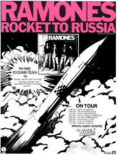 RAMONES POSTER,  ROCKET TO RUSSIA.  Punk
