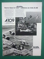 1978-79 PUB AGUSTA HELICOPTER HUBSCHRAUBER HELICOPTERE A109 OFFSHORE FRENCH AD