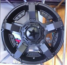 17x9 XD Rockstar 2 XD811 5,6,8 Lug 4 New Black Wheels Rims FREE Caps Lugs Stems