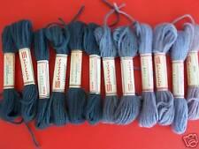 Spinnerin Persianna 100%wool tapestry yarn, lot of 12, grays
