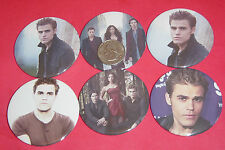 "Vampire Diaries Paul Wesley Set 6 große 2 1/4"" Buttons Pins Party gefallen"