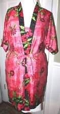 Lot 2 NWOT Amber Blue Size M Womens Pink Blue Nightgown Robe Embellished Floral