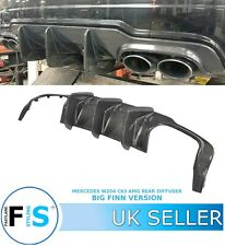 MERCEDES BENZ C CLASS W204 C63 AMG BIG FIN  CARBON FIBRE REAR DIFFUSER LIP 12-14