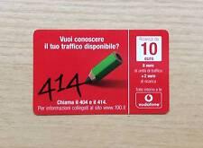 RICARICA TELEFONICA OMNITEL / VODAFONE - CHIAMA IL 404 E IL 414 - 10 EURO - 2010