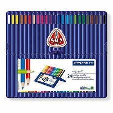 STAEDTLER ERGOSOFT TRIANGOLARE MATITE COLORATE-Assortiti Pacco Da 24