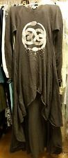 NWT Wildfox Couture White Label Childlike Empress Lucy Dress Dirty Black L Large