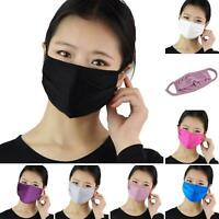 Safe Women Washable Silk Thin Face Mouth Cover Breathable Anti-fog Mouth Muffle