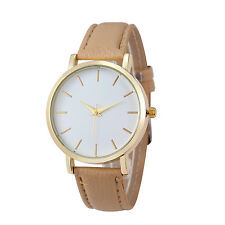 Luxury Quartz Watch Men Women Famous Brand Gold Leather Band Wrist Watches