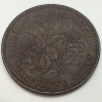 1856 NO LCW Province Nova Scotia One Half Penny Canada Circulated Token D843