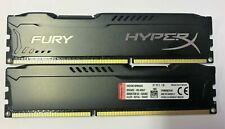 8 GB 2x4GB DDR3 FURY HYPERX PC3-14900 1866 MHZ  240 PIN Gaming PC RAM Kingston