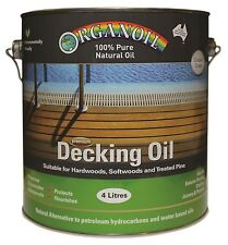 Organoil Timber Decking Oil for external timber CLEAR 4 litre - 100% Natural Oil