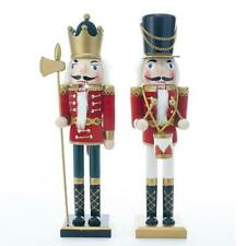 Kurt Adler 15-Inch Wooden King and Soldier Nutcracker Tablepiece, 2 Assorted, C4