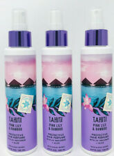 3 BATH AND BODY WORKS TAHITI PINK LILY & BAMBOO PROTECTIVE HAIR PERFUME UV ALOE