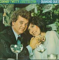 Conway Twitty & Loretta Lynn Diamond Duet Vinyl LP Record Album