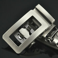 Automatic Buckle for 3.6cm Belt Silver Tone Hollow Out Plate