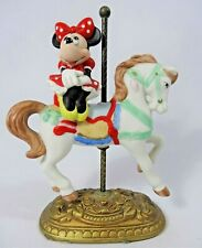 1991 Disney New England Collectors Society Minnie Mouse Carousel Figurine