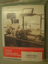 Hardinge Lathe Models Hlv & Tfb-H Maintenance Manual *58