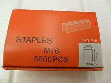 STAPLES 18 Gauge Staples Pneumatic Industrial Staple Guns 10 x 16mm Box of 5000