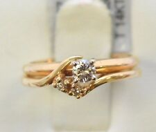 3213-14K YELLOW GOLD DIAMOND RING 6.90GRAMS SIZE 5