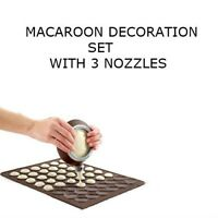 Macaroon Decoration Set Cake Decorating Pen 3 Nozzle Set Muffin Pastry Sheet