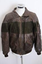 AMERICAN BASIC vintage giubbotto pelle giaccone blouson leather jacket 54 E559