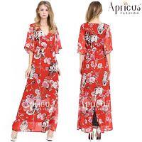 Chiffon Kimono Plus Size Women Evening Prom Party Long Dress AU 20 22 24 26 28