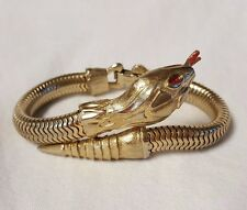 Vintage Gold Colored Snake Bracelet - Francois - Coro